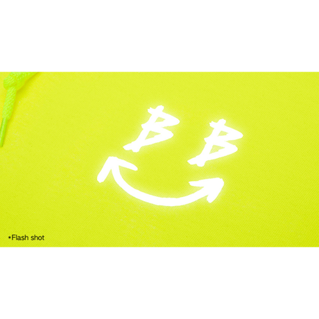 『BLACKBLOND』  リフレクションクラシックスマイルロゴパーカー (Neon)