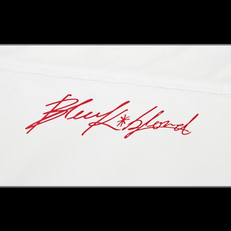 『BLACKBLOND』  ロゴパッチショートダックダウンジャケット (White)
