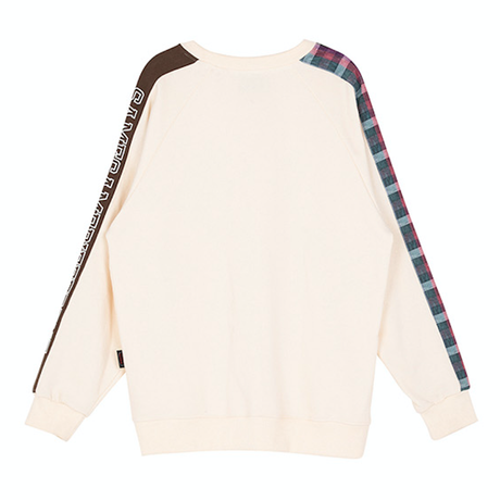 Motivestreet CHECK BAND SWEAT SHIRT (Cream)