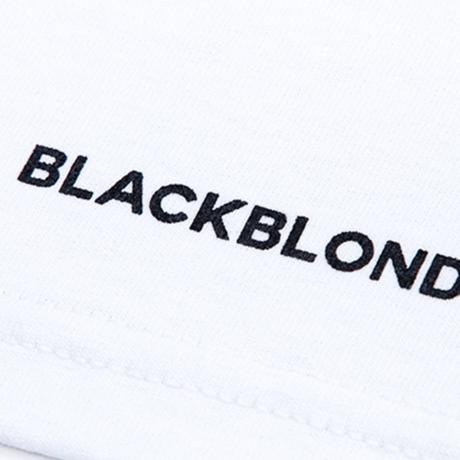 『BLACKBLOND』 スマイルロゴショートスリーブ Tシャツ (White)