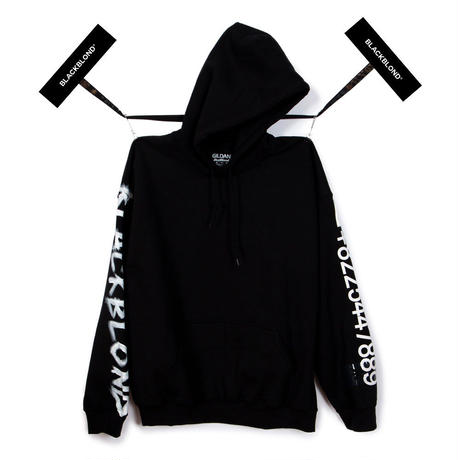 Blackblond BBD Graffiti Number Hoodie (Black)