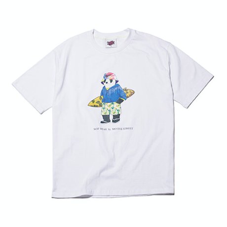 『Motivestreet』 サーフベア半袖  Tシャツ (White)