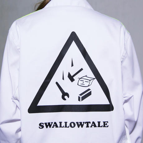 Swallowtale Hologram combination Shirts(WHITE)