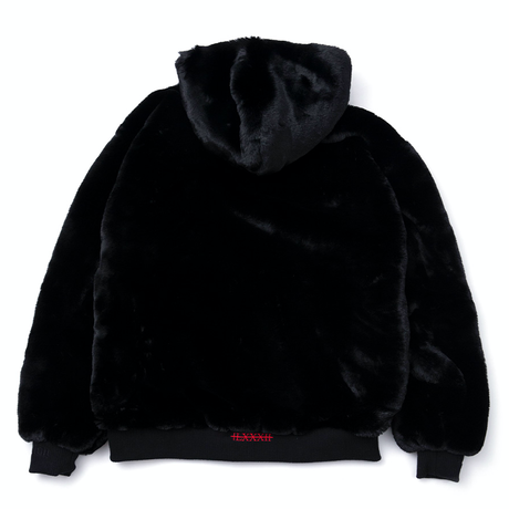 Blackblond Reversible Fur Hood Jacket (Black)