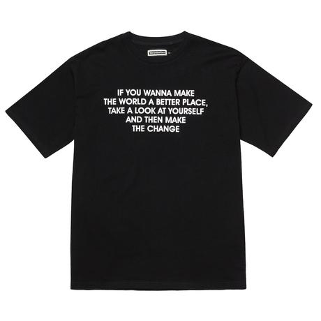 『Verynineflux』  インストラクション  Tシャツ (Black)