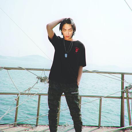 『LOUPS BLANCS』 ホットスタッフボートネック Tシャツ (Black)