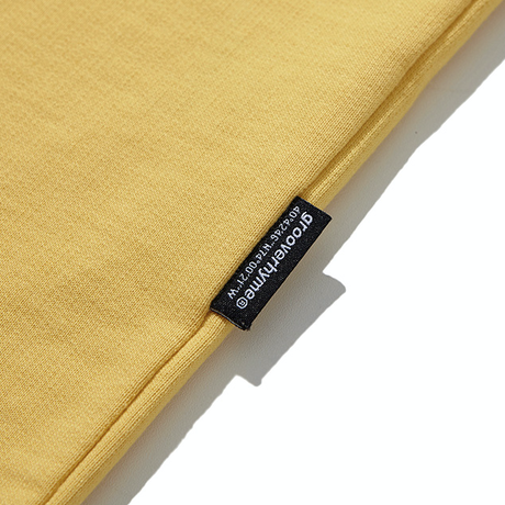 『grooverhyme』  NYC ロケーションロングスリーブ Tシャツ (Yellow)