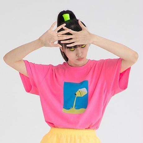 『Motivestreet』 ミルク  Tシャツ (NeonPink)