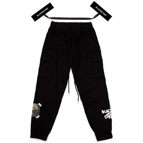 『BLACKBLOND』 ユースティティアカーゴジョガーパンツ (Black)