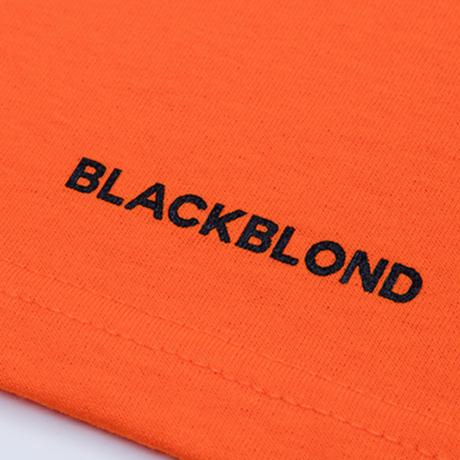 『BLACKBLOND』 スマイルロゴショートスリーブ Tシャツ (Orange)