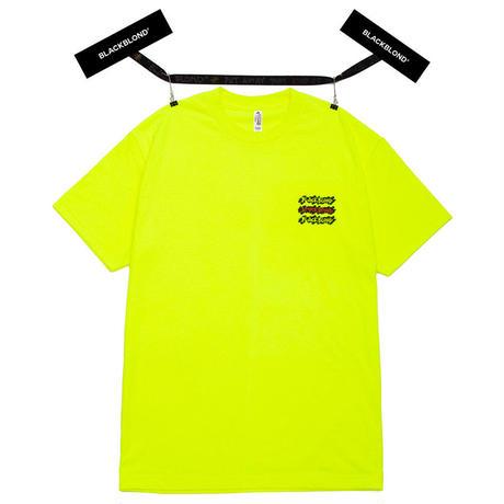 『BLACKBLOND』 グラフィティーロゴショートスリーブ Tシャツ (Neon)