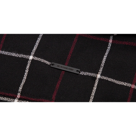 『BLACKBLOND』ブルータルレイヤードチェックシャツ (Black)