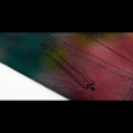 『BLACKBLOND』   オーロラスプレーデニムジャケット (Multi)