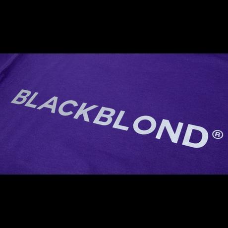 『BLACKBLOND』  リフレクションクラシックスマイルロゴパーカー (Purple)