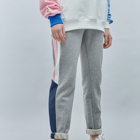 『Motivestreet』LINE SWEAT JOGGER PANTS  (Graypink)