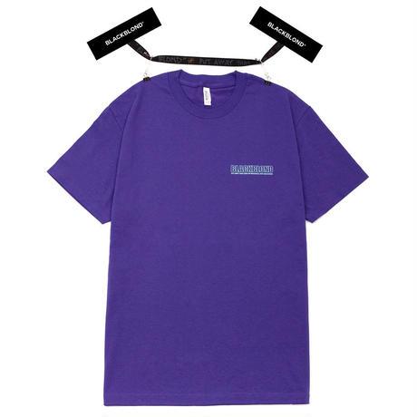『BLACKBLOND』 オリジナルボーダーロゴショートスリーブTシャツ (Purple)