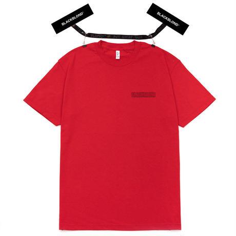 『BLACKBLOND』 オリジナルボーダーロゴショートスリーブTシャツ (Red)