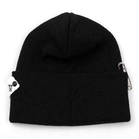 Blackblond BBD Side Patch Long Beanie (Black)