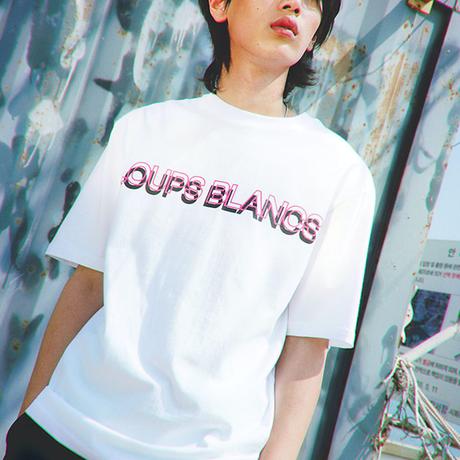『LOUPS BLANCS』  ダブルロゴグラフィック半袖 Tシャツ (White)