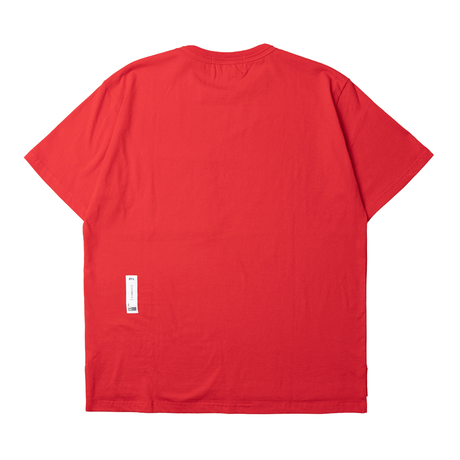 『 BY.L 』  ダブルネックポケット T (Red)