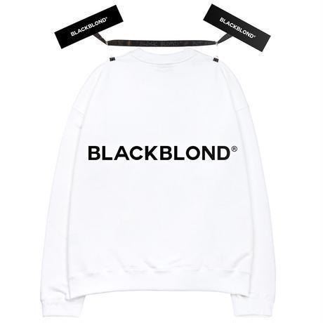 『BLACKBLOND』  クラシックスマイルロゴスウェット (White)