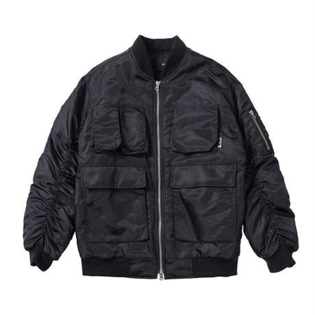 『 BY:L 』  マルチポケットオーバーサイズMA-1  (Black)
