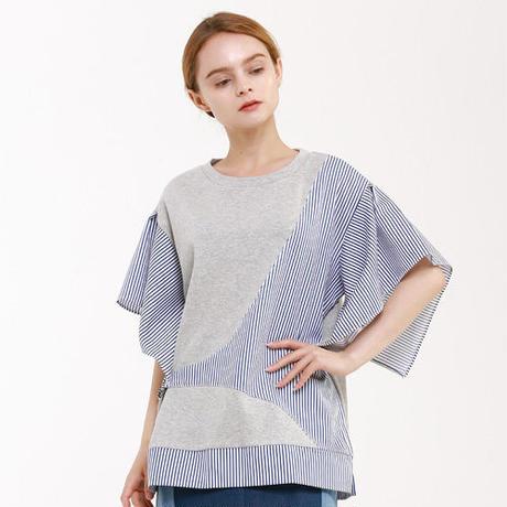 『Wunder Geist』  コンビネーションバックル半袖 Tシャツ (Grey)