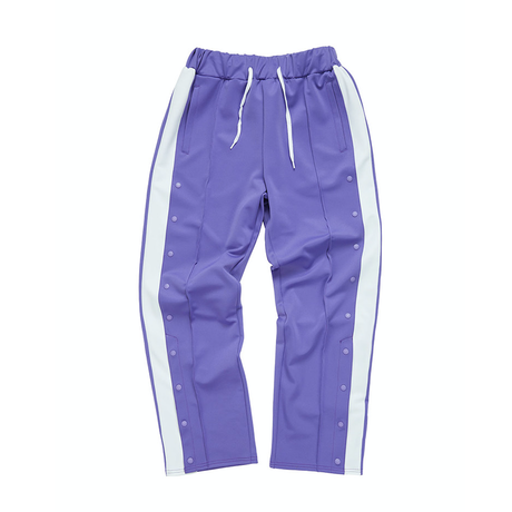 『Motivestreet』 HALF BUTTON TRACK PANTS (Purple)