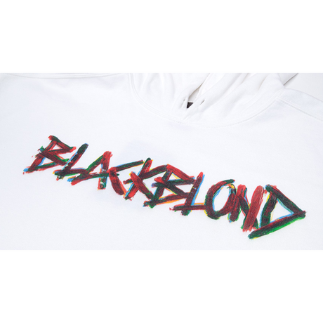 『BLACKBLOND』  ペインテッドグラフィティーロゴパーカー (White)
