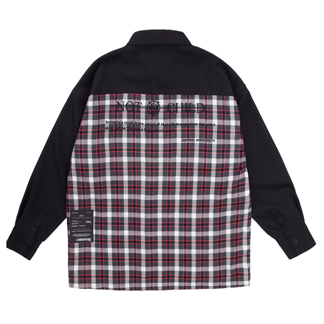 BY.L NOT CH OVER SHIRT (Red)