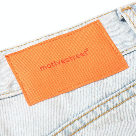 『Motivestreet』  ワイドバルーンデニムパンツ (Light Blue)