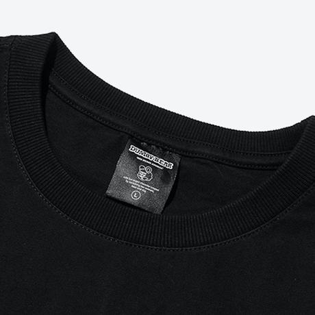 『grooverhyme』  ハニーアンドピザ Tシャツ (Black)