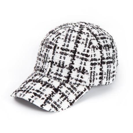 Blackblond BBD Classic Tweed Cap (White)
