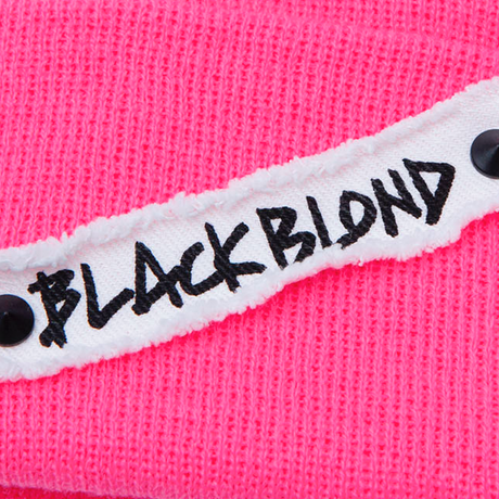 『BLACKBLOND』   Side Patch Long Beanie