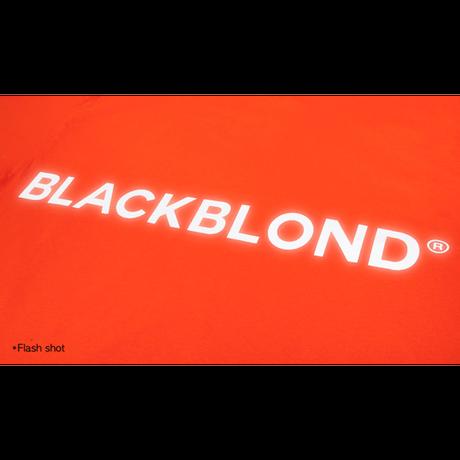 『BLACKBLOND』  リフレクションクラシックスマイルロゴロングスリーブ Tシャツ (Orange)