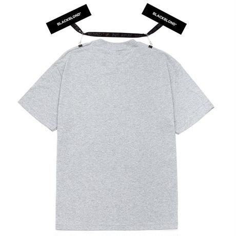 『BLACKBLOND』 オリジナルボーダーロゴショートスリーブTシャツ (Gray)