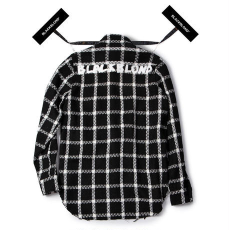 『BLACKBLOND』 BBD Plaid Tweed Shirt (Black)