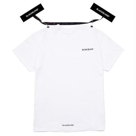 『BLACKBLOND』 イノセントボックスロゴショートスリーブ Tシャツ (White)