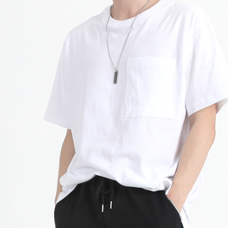 『 BY.L 』  ダブルネックポケット T (White)