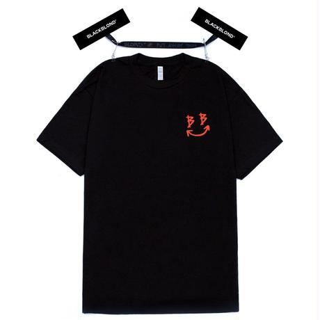 『BLACKBLOND』 スマイルロゴショートスリーブ Tシャツ (Black)
