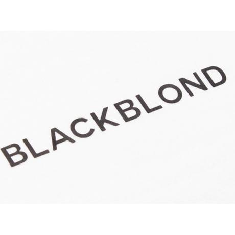 『BLACKBLOND』 イノセントシャドーショートスリーブ Tシャツ (White)