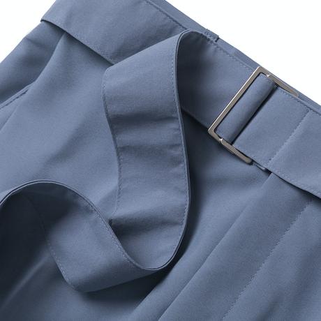 『BY.L 』 ベルトワンタックワイドスラックスパンツ (Greyish Blue)