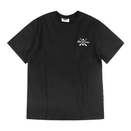 『Motivestreet』 ローイング半袖Tシャツ (Black)
