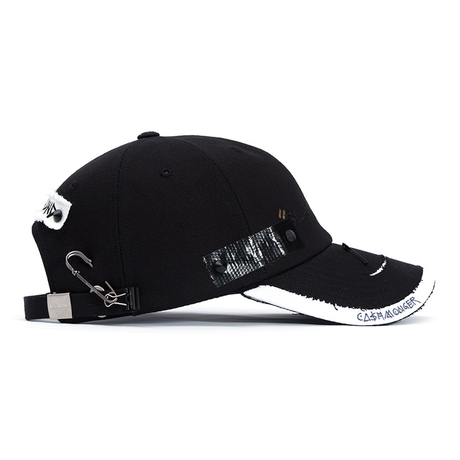 『BLACKBLOND』Solid Oxford 7 Sins Graffiti Cap