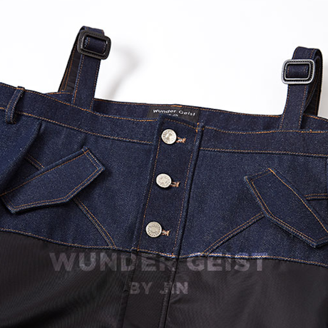 (注文製作) WunderGeist denim off shoulder MA-1