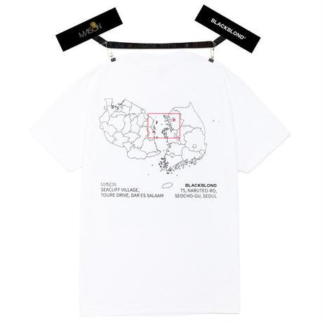 『BLACKBLOND X MAISON』  ショートスリーブ Tシャツ (White)