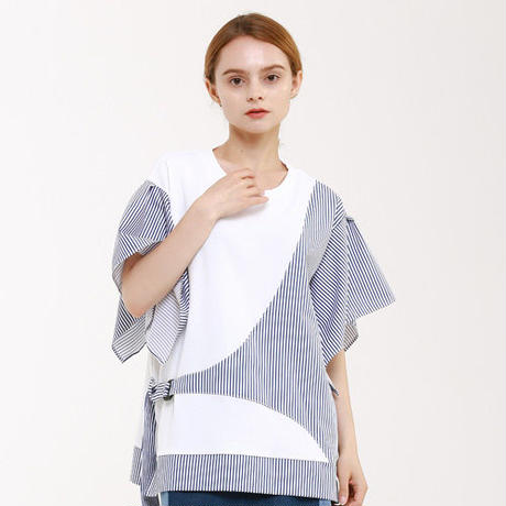 『Wunder Geist』  コンビネーションバックル半袖 Tシャツ (White)