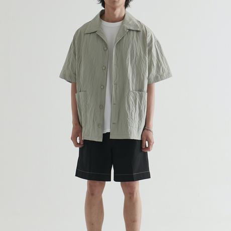 『 BY:L 』    ナイロンクリンクルオーバーシャツ (Grey)