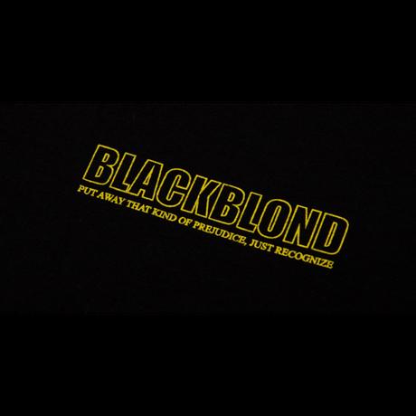 『BLACKBLOND』 オリジナルボーダーロゴショートスリーブTシャツ (Black)