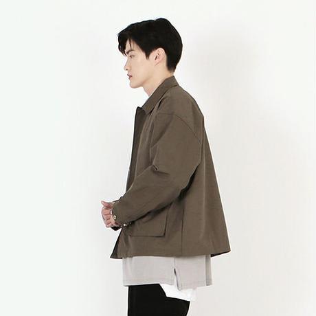 『 BY:L 』  ミニマルフィールジャケット  (Khaki)